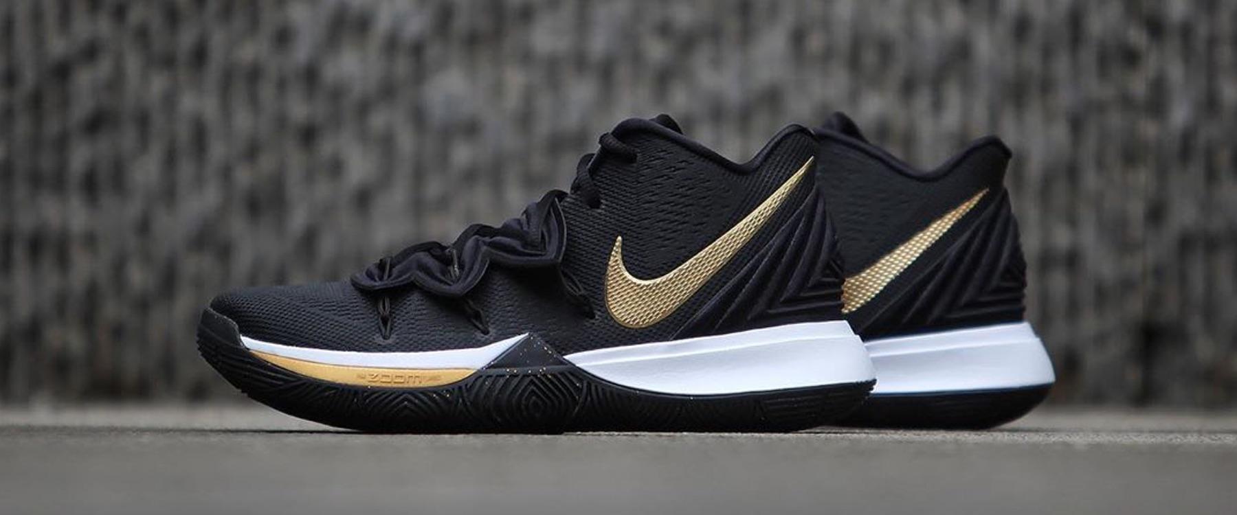 Nike Kyrie 5 Black/Metallic Gold – ITA