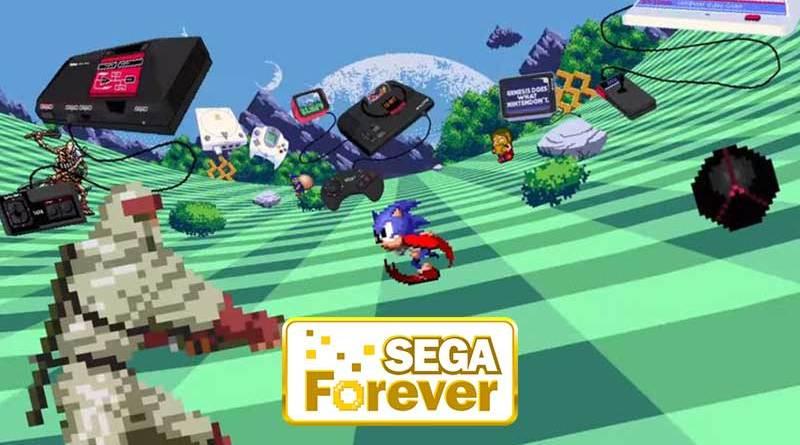 Sega Forever na palma da mão