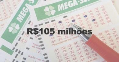 Mega-Sena acumula e pode pagar R$ 105 milhões no sábado (29/07)