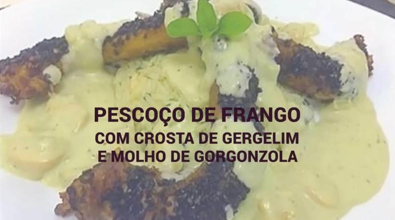 Pescoço de Frango com Crosta de Gergelim