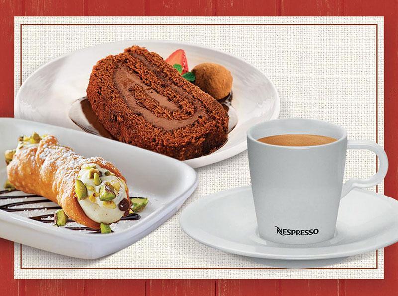 Abbraccio combina sobremesa e café Nespresso por preço especial