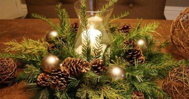 Arranjos para mesa da Ceia de Natal