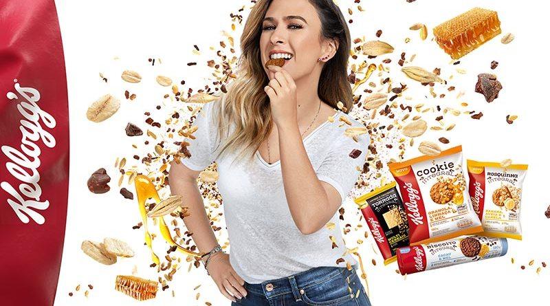 Com Tatá Werneck, Kellogg's® usa expertise em cereais e lança nova linha de biscoitos integrais