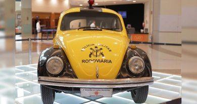 Exposição no RibeirãoShopping mostra a evolução dos carros de polícia