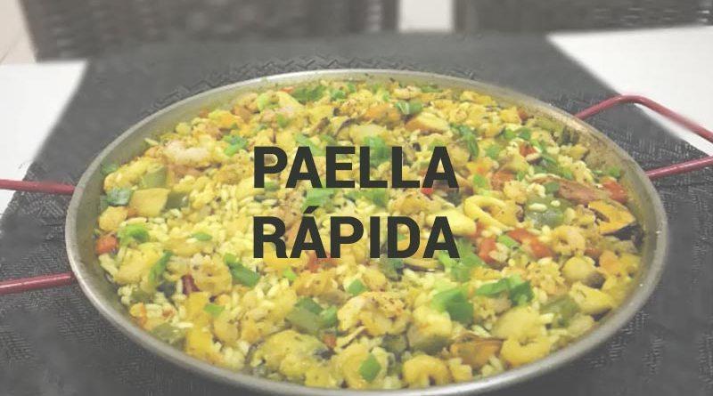 Paella Rápida em 3 minutos