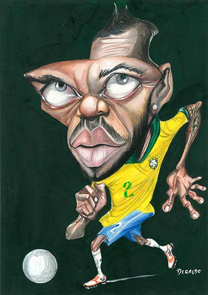 Exposição no RibeirãoShopping exibe caricaturas de jogadores de futebol