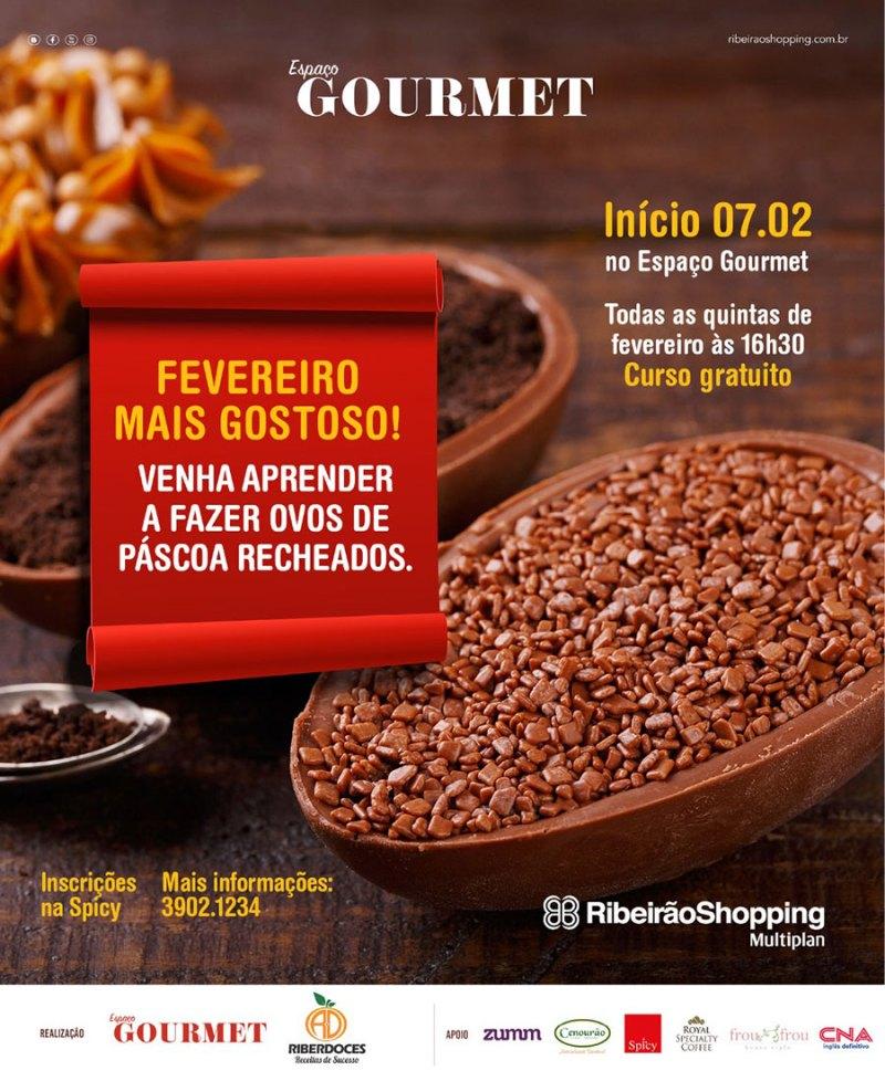 RibeirãoShopping realiza oficina gratuita de ovos recheados