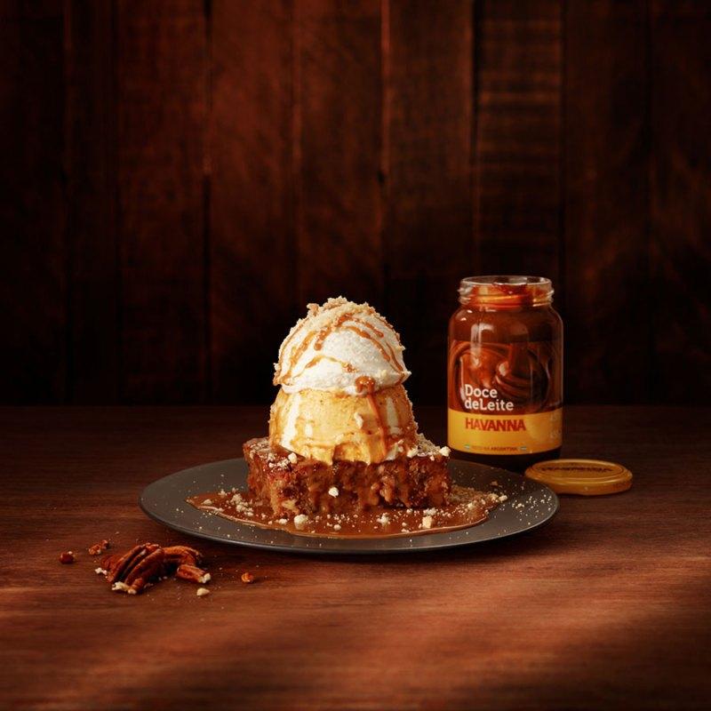 O famoso brownie do Outback na versão doce de leite Havanna vai ficar