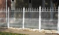 Decorative metal fence white picture | interunet