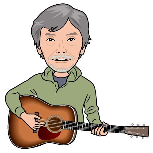 ミュージシャン・佐々木幸男さんの似顔絵