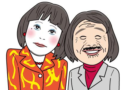 日本エレキテル連合の似顔絵