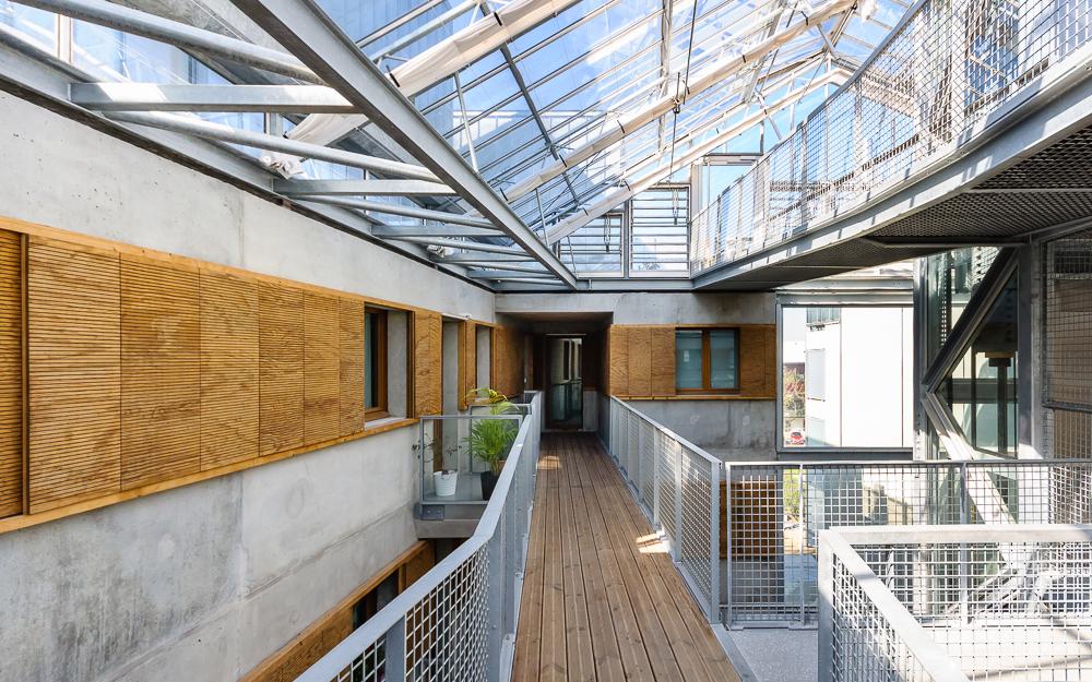photographe d'architecture ©INTERVALphoto : Hauvette, logements collectif, Chantepie, Eden square, logements collectif, atrium, serre bioclimatique, Chantepie (35)