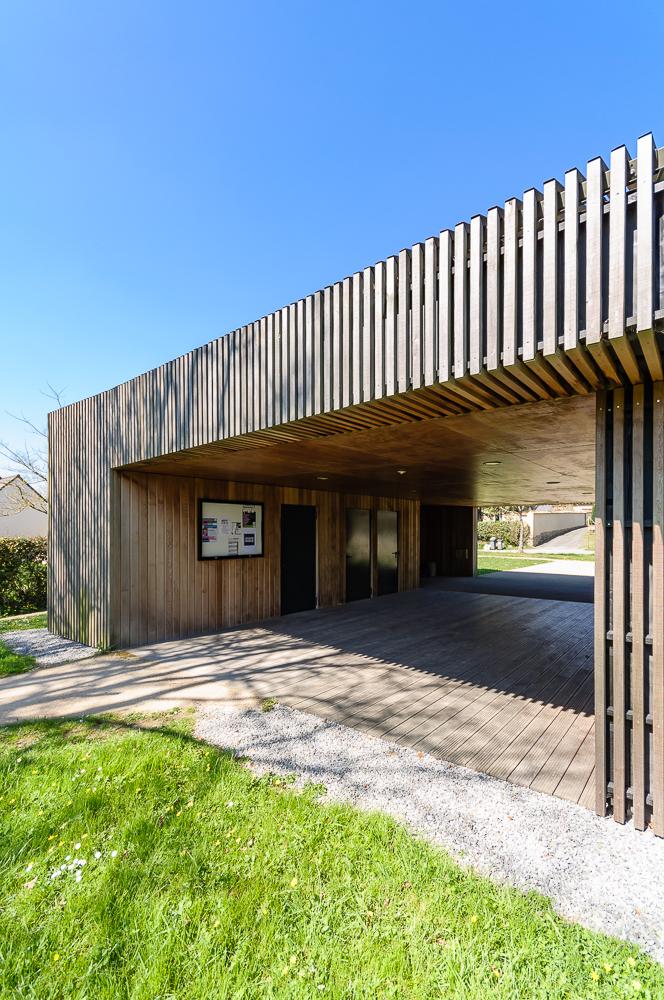 photographe d'architecture ©INTERVALphoto :David Cras architecte, médiathèque, Saint Aubin du Pavail