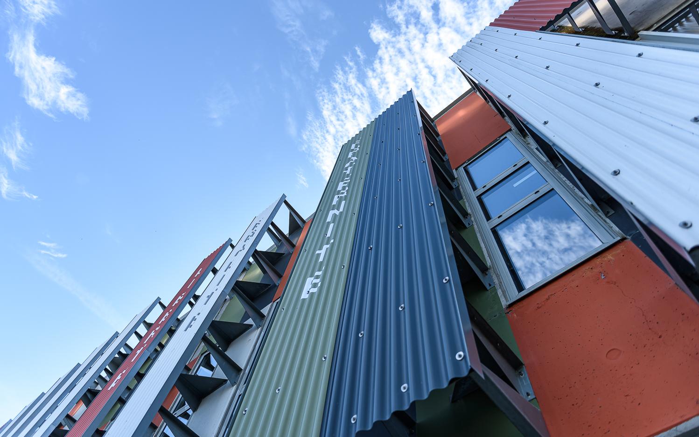 photographe d'architecture ©INTERVALphoto : Agence Block, agence Guinée Potin, logements, groupe scolaire Julien Gracq, ZAC de Bottière Chénaie, Nantes (44)