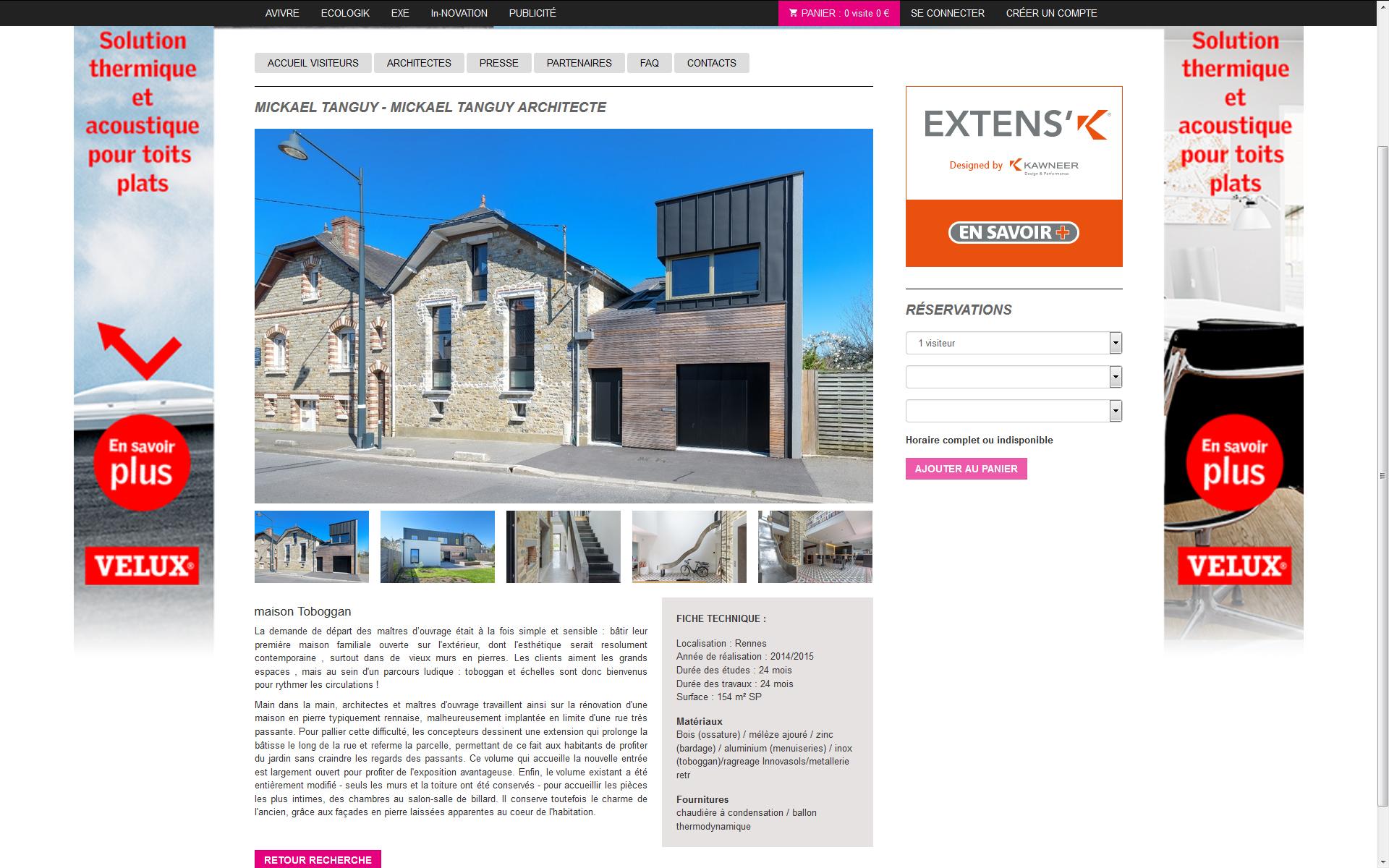 journée à vivre : visite maisons d'architecte 2015 en lien avec la revue A Vivre