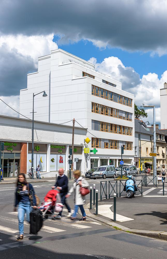 photographe d'architecture ©INTERVALphoto: Gilbert QUÉRÉ & Christophe JOUAN architectes, résidence, Rennes (35)