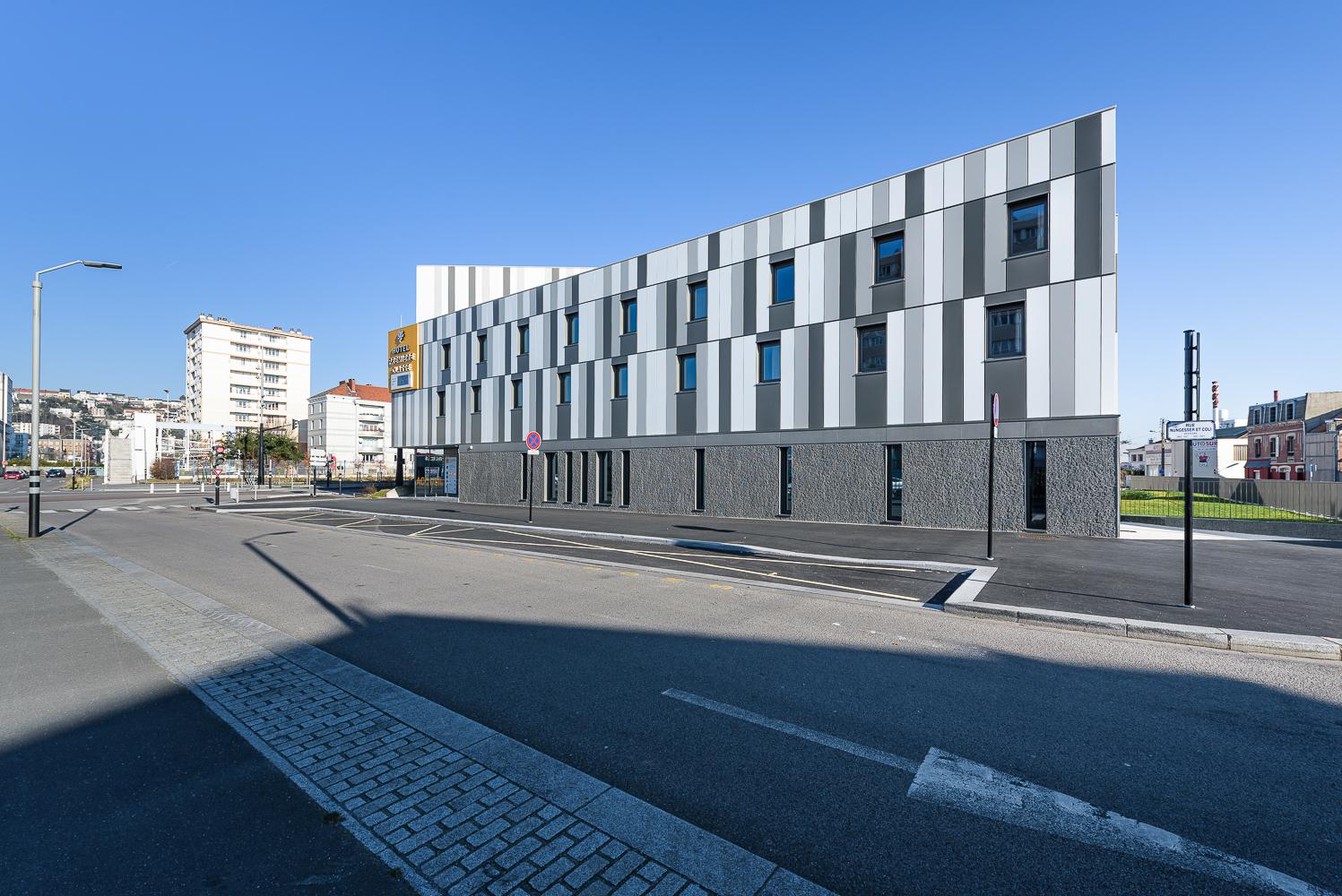 photographe d'architecture ©INTERVALphoto : PAUMIER Architecte, Hôtel Certification PASSIVHAUS, Le Havre (76)