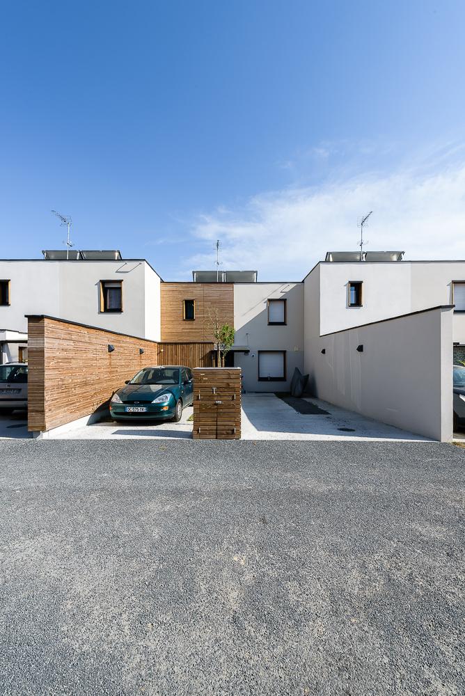 photographe d'architecture ©INTERVALphoto : Paul Bouet Architecte, maisons en bande, Mordelles, 35