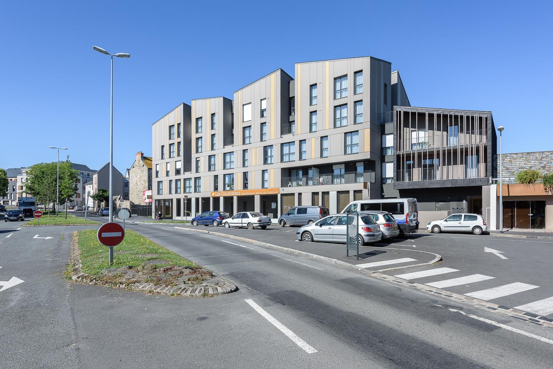 photographe d'architecture ©INTERVALphoto : PAUMIER Architectes, logements, résidence Sénior, Saint Malo(35)