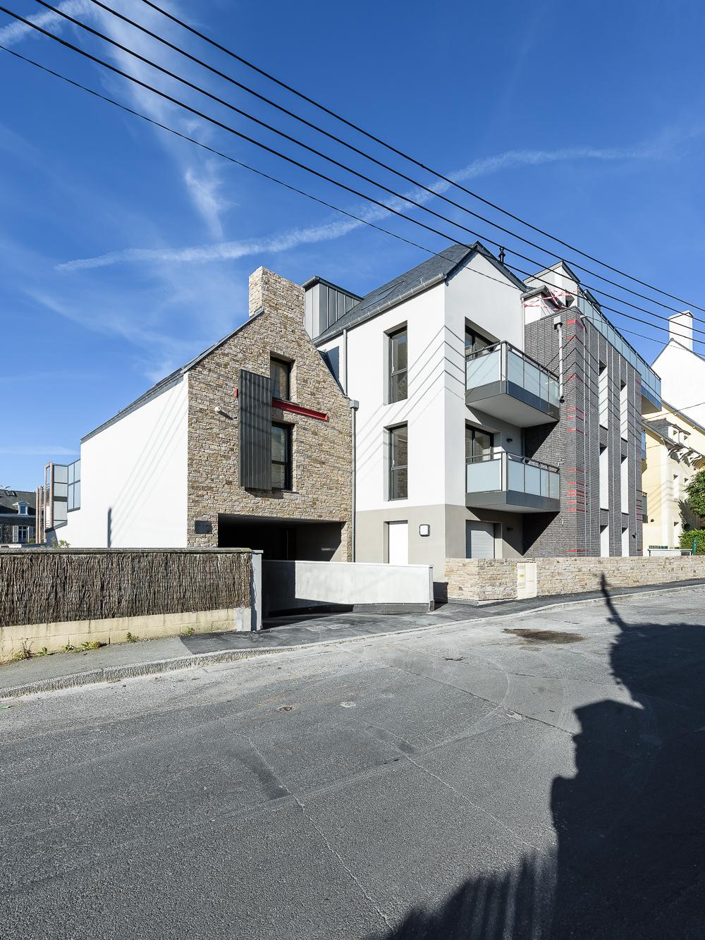 photographe d'architecture ©INTERVALphoto : Bachmann associés architectes, Promo Ouest, PEROBA, logements collectifs Roc'Eden, Saint Malo (35)