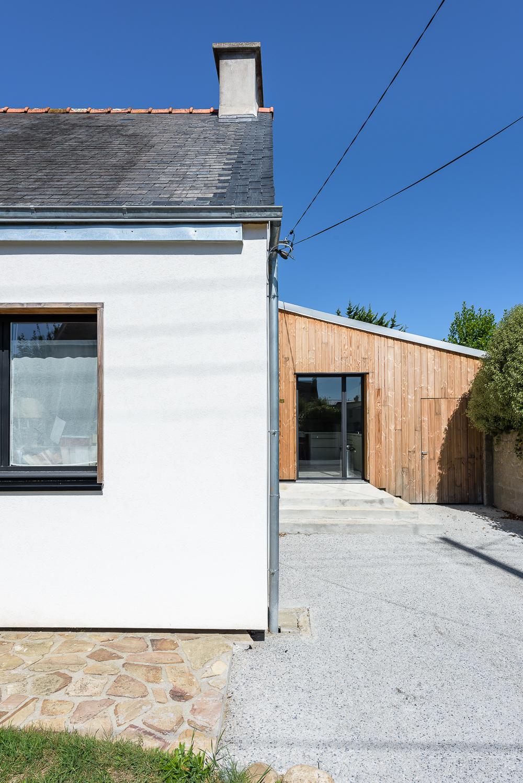 photographe d'architecture ©INTERVALphoto : LAB architectes, extension maison individuelle, Kerhuon (29)