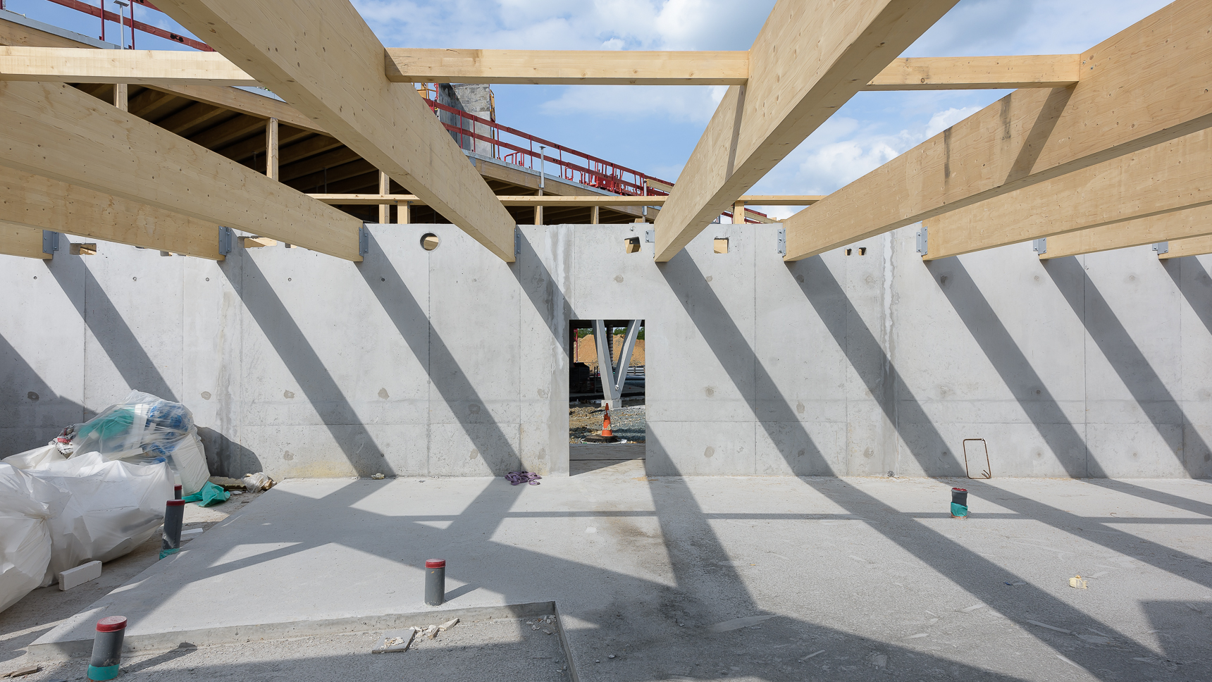 photographe d'architecture ©INTERVALphoto : Lycée Polyvalent, Région Pays de Loire, AIA architecte, Chantier, Nort sur Erdre (44) 7/22 ©INTERVAL photo
