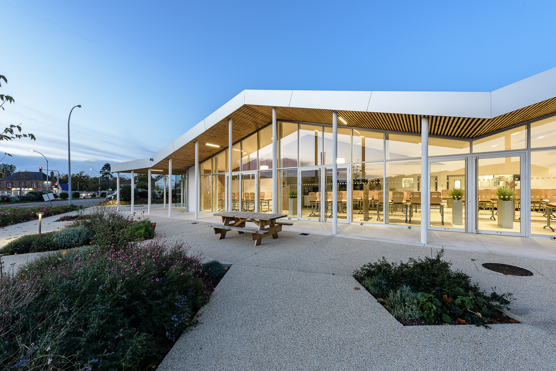 photographe d'architecture ©INTERVALphoto : Alt 127 architectes, ESAT d'Apigné, cuisine centrale, St Jacques de la Lande (35)