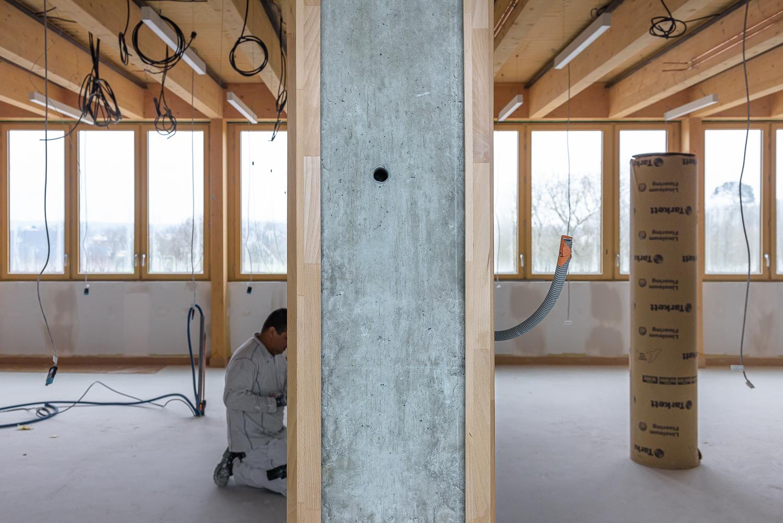 photographe d'architecture ©INTERVALphoto : Lycée Polyvalent, Région Pays de Loire, AIA architecte, Chantier 16/22