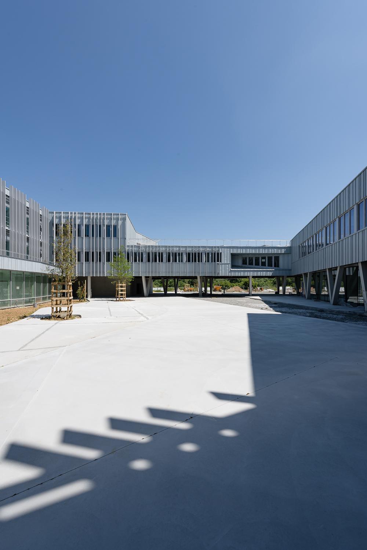 photographe d'architecture ©INTERVALphoto : Lycée Polyvalent, Région Pays de Loire, AIA architecte, Chantier 17/22, Nort sur Erdre(44)