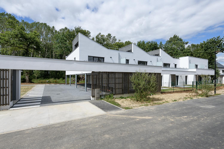 photographe d'architecture ©INTERVALphoto : O+P architectes, logements, Cintré (35)