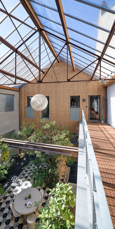 photographe d'architecture ©INTERVALphoto : bertin bichet architectes, réhabilitation, patio house, Saint Nazaire (44)