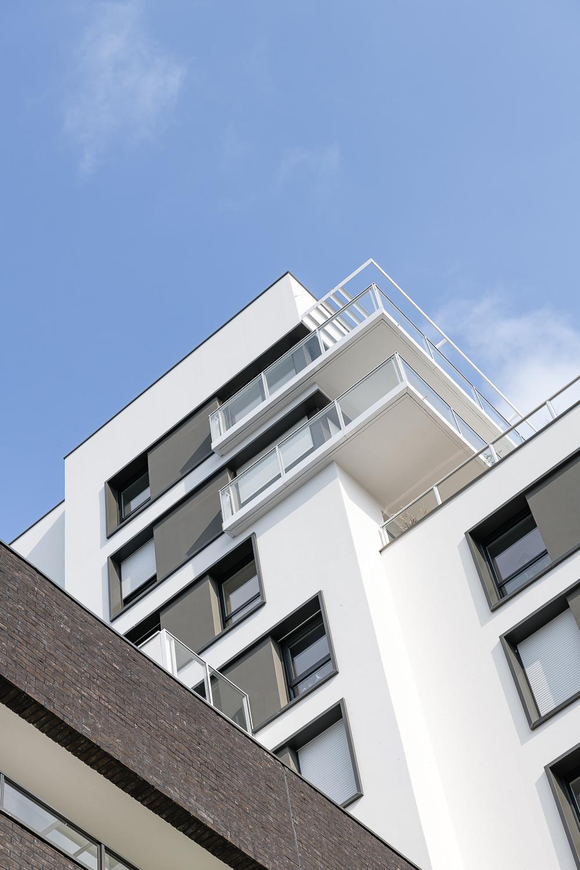 photographe d'architecture ©INTERVALphoto : Paumier Architectes Associés, logements collectifs, Les Cadets, Rennes (35)
