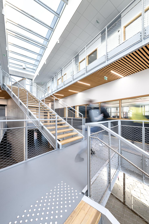 photographe d'architecture @INTERVALphoto : O+P Architectes, Intérieurs, CFA Inhni, Ker Lann, Bruz (35)