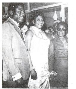 Tarka with wife, Francessca