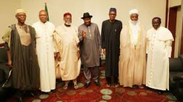 kukah with other peace brokers in the 2015 presidential contest