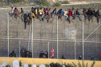 Migrants set for confrontation with Spanish Border Police standing between them and the perceived wonderland