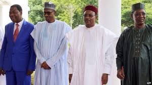 Pres.Buhari with leaders of Nigeria's contigous borders