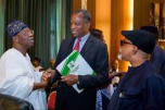 Geoffrey Onyeama and Lai Mohammed, Nigeria's ministers of Foreign Affairs and that of Information