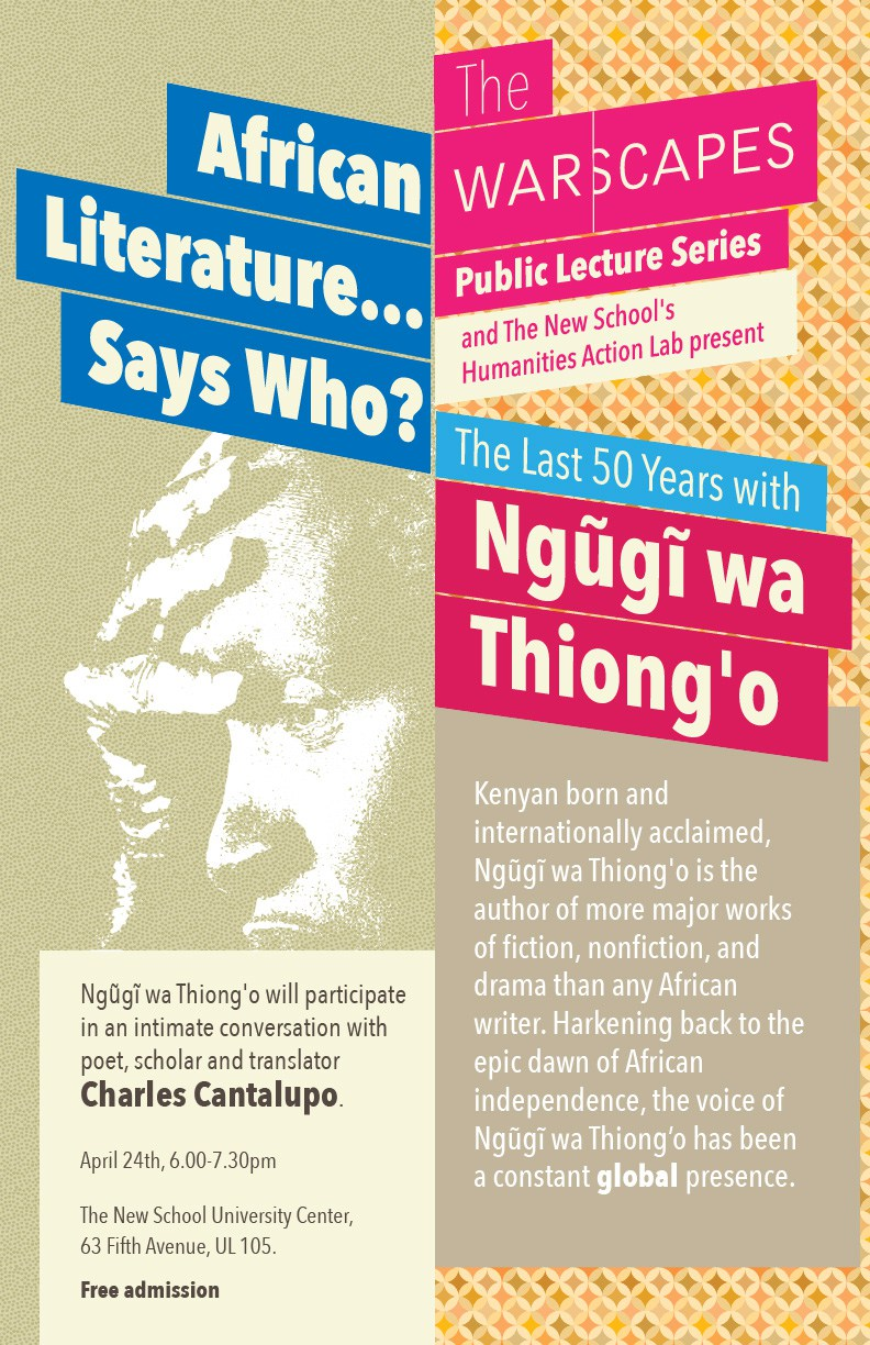 Ngugu Wa Thiongo Still Burning With the Fire of Post-colonialism