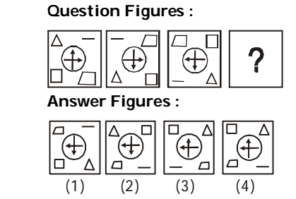 A series is given with one term missing. Choose the correct