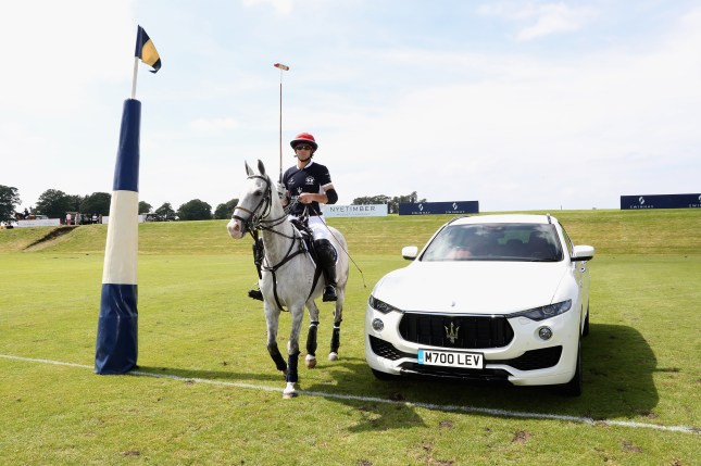 TETBURY, ENGLAND - JUNE 10: Maserati Royal Charity Polo Trophy 2018 – Malcom Borwick with the Maserati Levante during the Maserati Royal Charity Polo Trophy 2018 at Beaufort Polo Club on June 10, 2018 in Tetbury, England. (Photo by Chris Jackson/Getty Images for Maserati / La Martina) *** Local Caption *** Malcom Borwick
