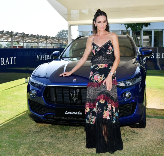 Supermodel Nieves Alvarez & Maserati Levante MY19 @ 47 International Polo Tournament in Sotogrande (4)