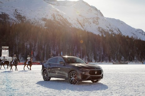 Maserati Levante MY19 on the snow polo field - St Moritz