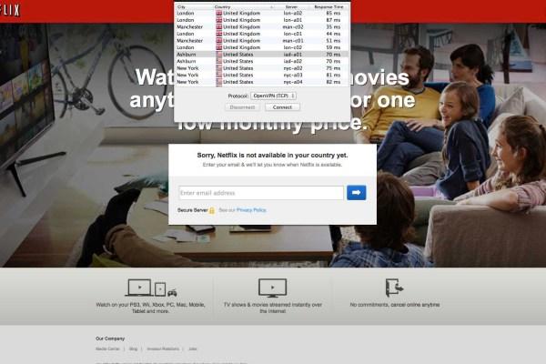 Unblock Netflix - VPN connection