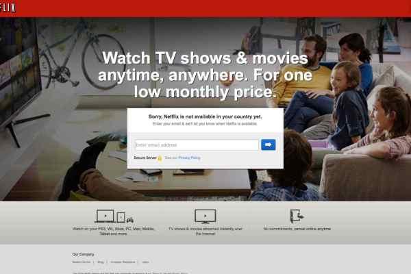 Netflix not availble - GeoBlocked