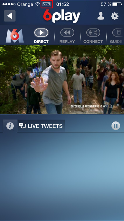 M6 live stream unblocked iOS, android