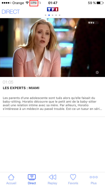 Stream TF1 iphone, ipad, android, unblocked