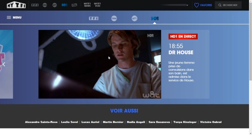direct HD1 live stream hors France, bypass geo blocage,unblocked