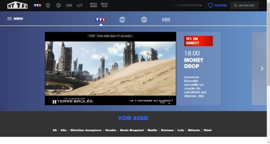 direct TF1 live stream hors France, contourner geo blocage, unblocked
