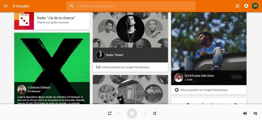 accéer gratuit to Google Play Music hors USA
